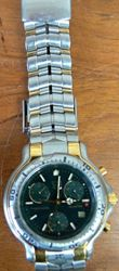 Picture of TAG HEUER CH1151 GREEN FACE 18K AND STAINLESS STEEL WATCH