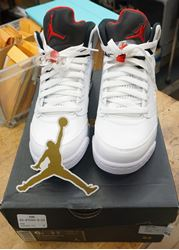 "Picture of Nike Air Jordan  5 Retro BG ""Cement"" 440888-104 SIZE 6"