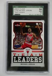 Picture of 2006-07 Fleer Team Leaders Michael Jordan #TL-MJ  98 GEM 10 MINT